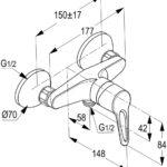 | POLO single lever shower mixer | Al Wadi Sanitary Wares Company September 2021